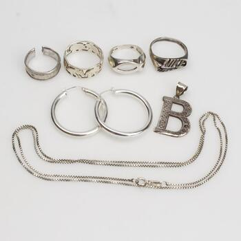 Sterling Silver Jewelry, 8 Pieces