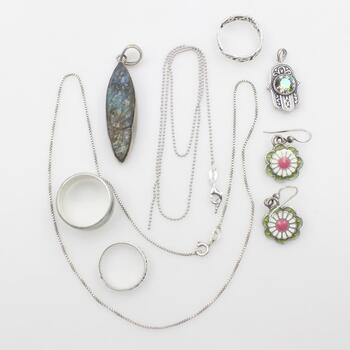 Sterling Silver Jewelry, 9 Pieces