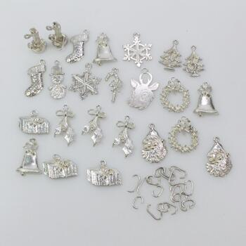 Sterling Silver Pendants, 24 Pieces 37.4g