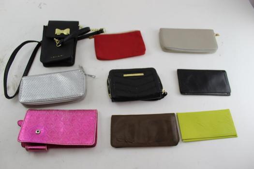 Steve Madden, Tahari, & More Assorted Wallets & Zip Bags; 5+ Pieces