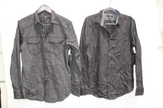 Structure Slim Fit Dress Shirts, 3 Pieces