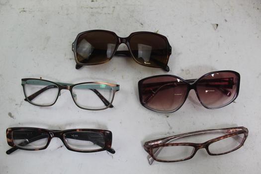 Sunglasses And Eyeglasses Bulk Lot,  5 Pieces