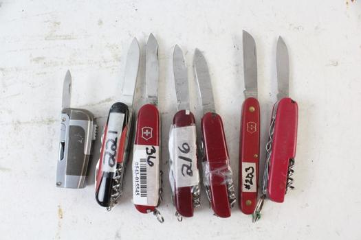 Swiss Army Knife And More, 7 Pieces