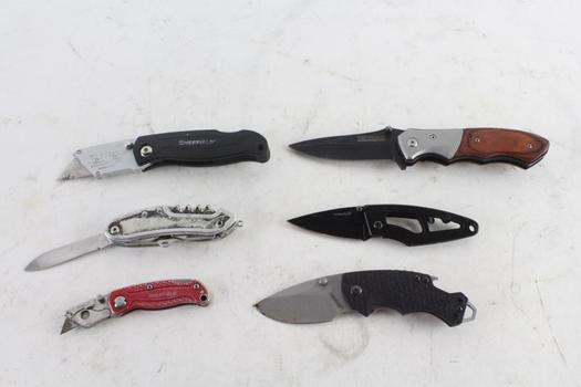 Tac-Force, Kershaw, And Others Folding Pocket Knives, 6 Pieces