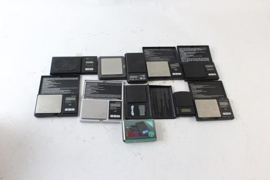 Tanita And Other Pocket Scales, 11 Pieces
