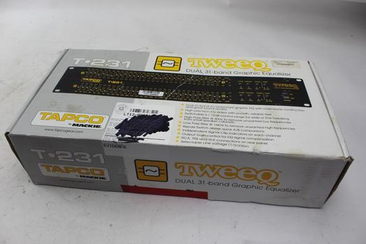 Tapco Tweeq T231 Dual 31 Band Graphic Equalizer