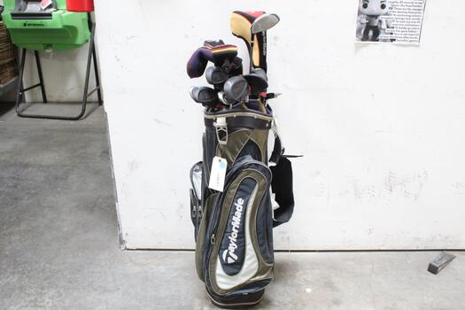 Taylor Made Bag With Clubs, 14 Pieces