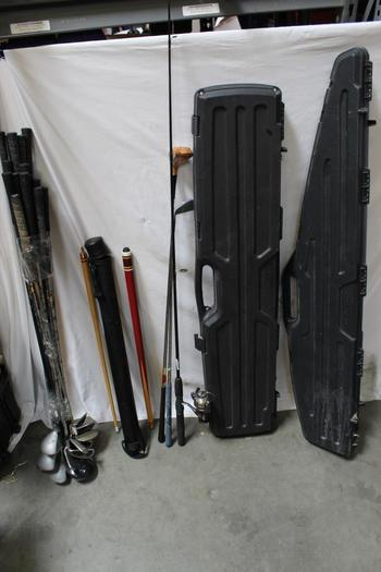 Tebco Cyclone Fishing Pole, Plano Rifle Case And More Bulk Lot, 20+ Pieces