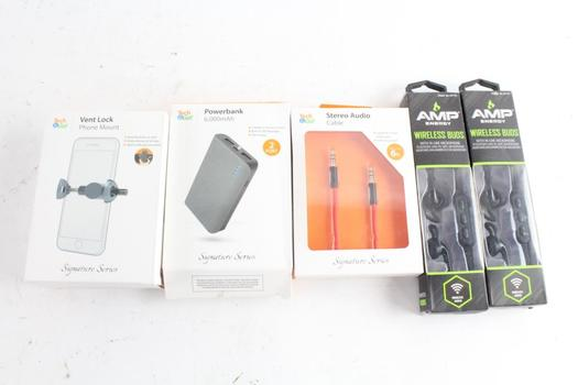 Tech & Go Powerbank Portable Charger And More, 5 Pieces
