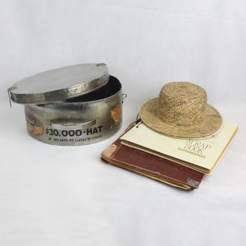 Rare Collector's Hat, Scrapbooks, & Case - Autographed By Clark Gable, Ronald Reagan, Henry Ford And More