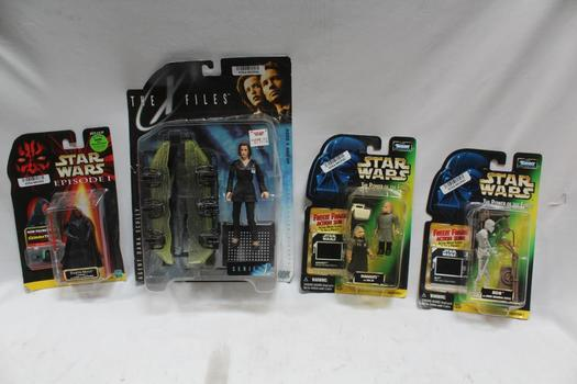 The X-files And Star Wars Collectible Figurines, 4 Pieces