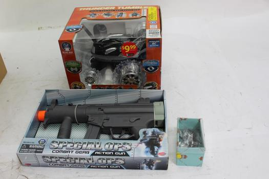 Thunder Tumbler RC Car, Toy Things Action Toy Gun And More, 3 Pieces