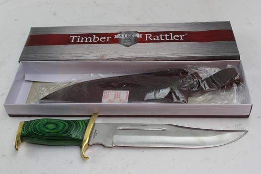 Timber Rattler Bowie Knife