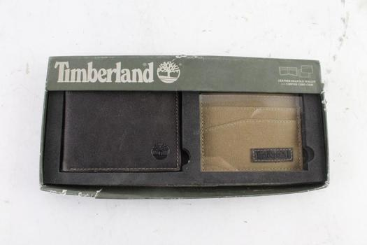 Timberland Mens Wallet With Canvas Card Case