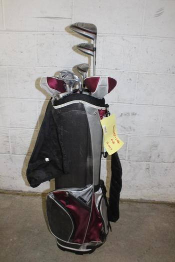TiTech Bag With Golf Clubs, 10 Pieces