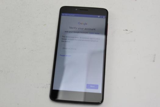 T-Mobile Revvl Plus, 32GB, T-Mobile, Google Account Locked, Sold For Parts