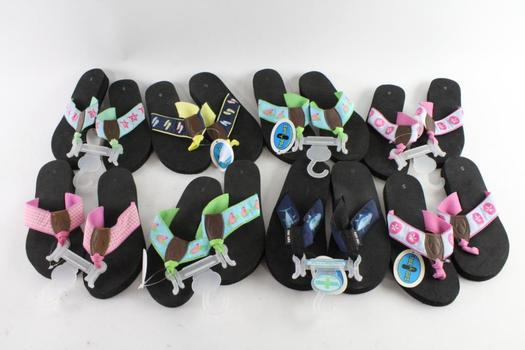 Toe Goz Girls Sandals, Size 5 And 6, 8 Pieces