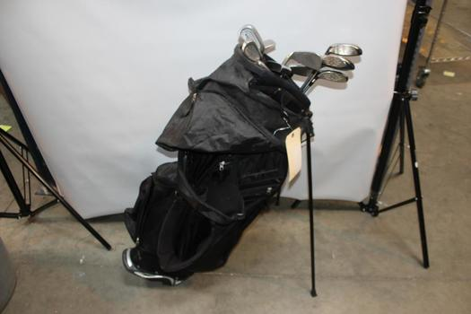 Tommy Armour Golf Bag With Assorted Clubs, 5+ Pieces