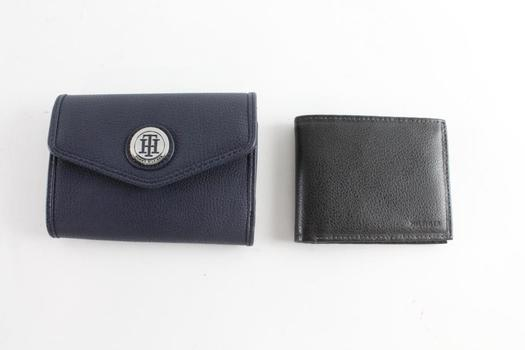 Tommy Hilfiger Mens And Womens Wallets, 2 Pieces