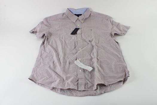 Tommy Hilfiger Short Sleeve Collared Shirt, Size XL