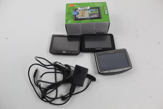 Tomtom, Garmin, & Hp Assorted Gps Navigators; 5 Pieces