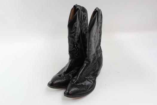 Tony Lama Cowboy Size 14 Black Boots
