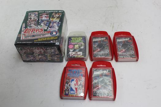 Topps And Top Trumps Baseball Cards And Card Games, 6 Pieces