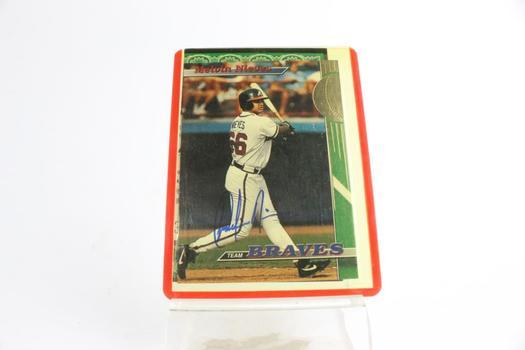 Topps Stadium Club 1993 Melvin Nieves Atlanta Braves Card