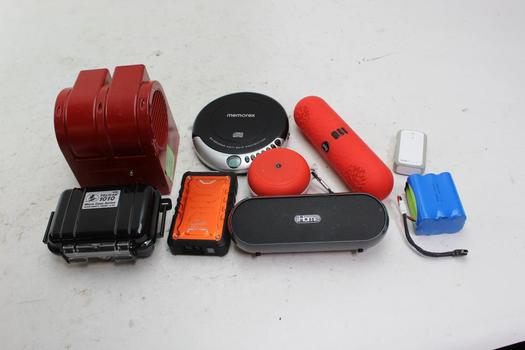 ToughTested Powerbank, Memorex CD Player And More, 6+ Pieces