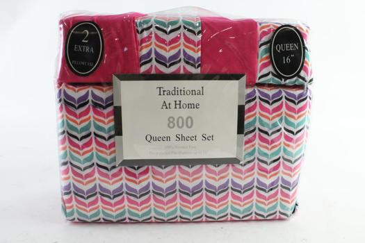 Traditional At Home 6-Piece Queen Sheet Set
