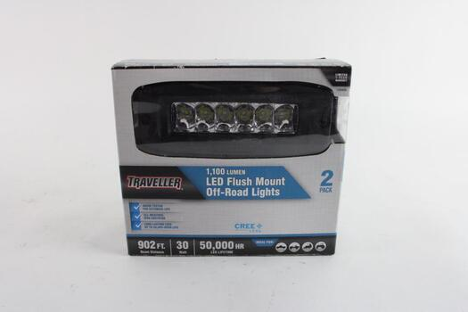 Traveller 2-Pack LED Flush Mount Off-Road Lights