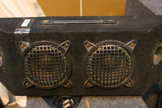 Twin Car Speakers And Speakerbox