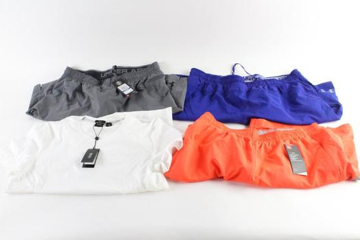 Under Armour And Boss Mens T0Shirt And Shorts, XL, 4 Pieces