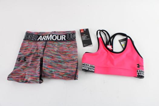 Under Armour Girls Heat Gear Pants And Top, Youth Small, 2 Pieces