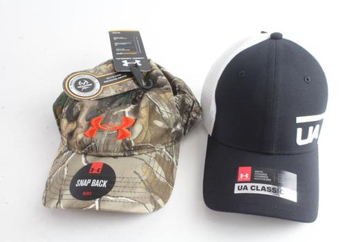 Under Armour Mens Caps, L/XL And OSFA, 2 Pieces