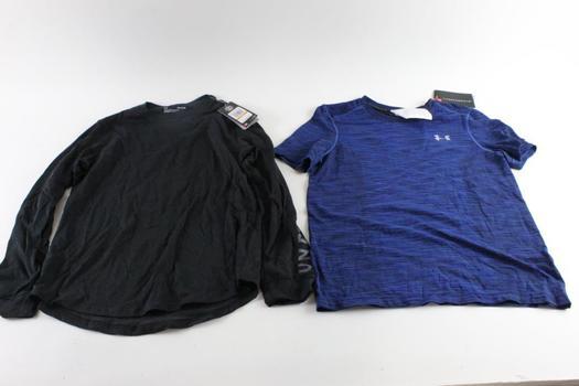 Under Armour Threadborne Shirts, Size S, 2 Pieces