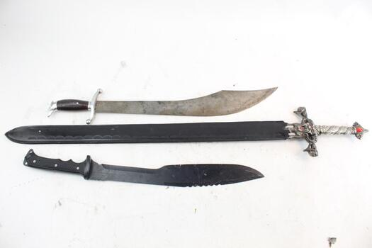 Unknown And Other Knives,3 Pieces