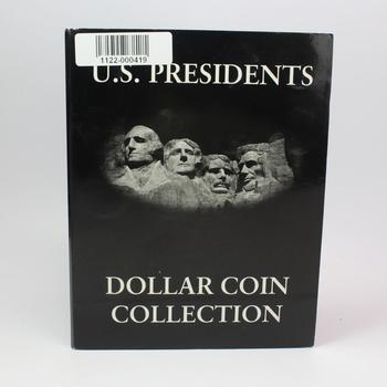 U.S Presidents Dollar Coin Collection Book- Includes 24 Coins