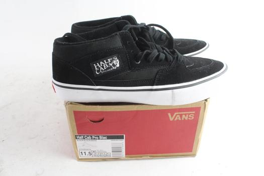 Vans Half Cab Pro Blac Mens Shoes, Size 11.5