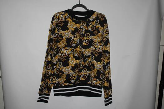 Versace Jeans Couture Logo Baroque Pullover Sweatshirt
