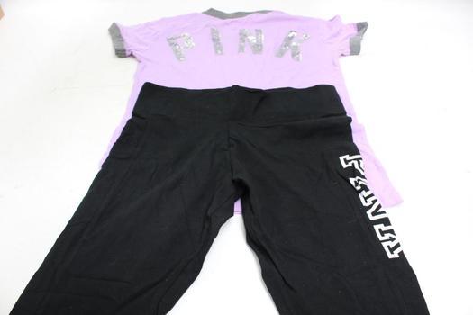 Victoria's Secret Pink Shirt And Pants, Size M, L, 2 Pieces