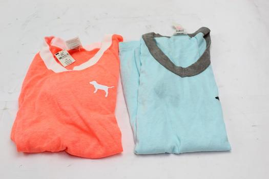 Victoria's Secret PINK V-neck Shirts, 2 Pieces