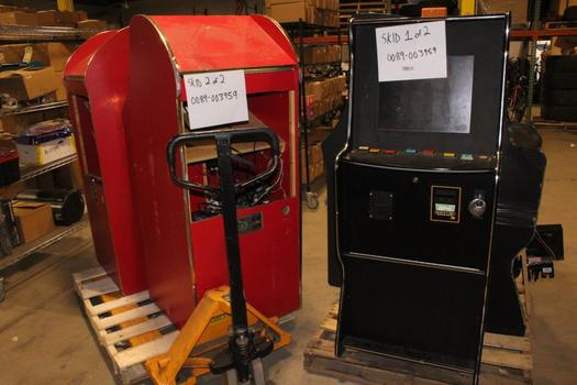 Video Poker Machines, 5 Pieces, Sold For Parts