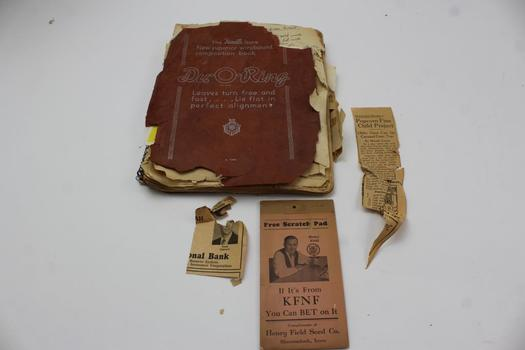 Vintage Du-O-Ring Notebook With Recipes
