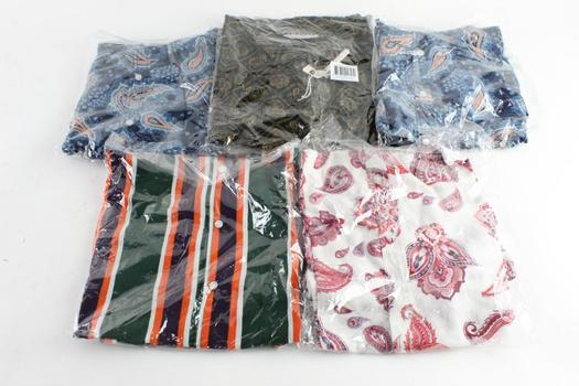 Vintage Re-Mastered Button Down Shirts Size Extra Large, 5 Pieces