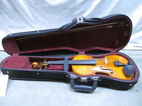 Violin W/bow In Black Hard Case