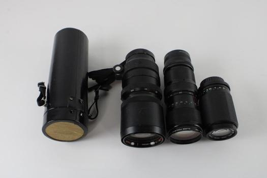 Vivitar And Other Lenses, 3 Pieces