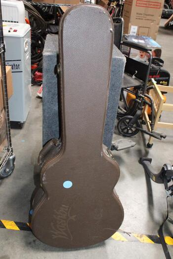 Washburn Brown Leather Acoustic Guitar Case