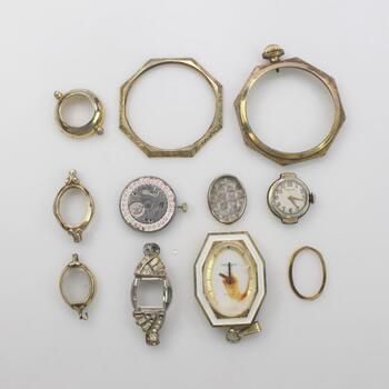 Watches And Watch Parts, 11 pieces