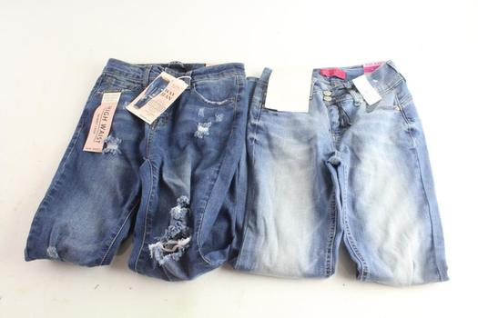 Wax Jean Butt Lifting Jeans Size 3 And High Waist Jeans Size 3, 2 Pieces